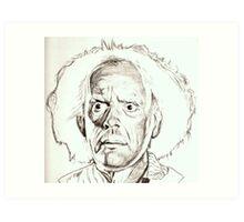 Christopher Lloyd, Doc Brown, drawing Art Print