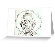 Christopher Lloyd, Doc Brown, drawing Greeting Card