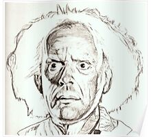 Christopher Lloyd, Doc Brown, drawing Poster