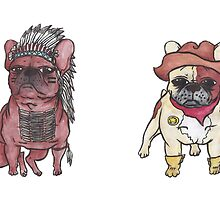 Cowboys and Indian X Bulldogs by Liddle-Ideas