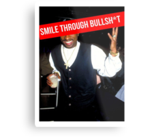 2Pac Smile Through Bullshit Supreme SALE Metal Print