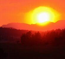 Wildfire Sunset by Danny Key