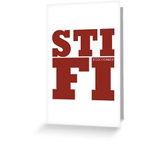 Sticky Fingers STIFI Greeting Card
