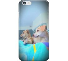 Puppies watching the lawn being cut♡ iPhone Case/Skin