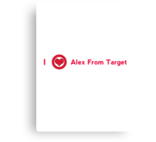 I love alex from target Canvas Print