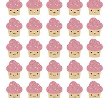 Cute pink cupcake pattern by Eggtooth