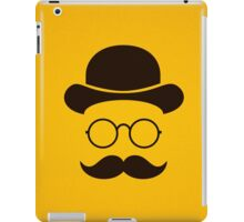 Retro /Minimal vintage face with Moustache & Glasses iPad Case/Skin