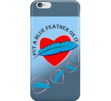 Blue Feather Love iPhone Case/Skin