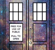Galaxy TARDIS Sticker