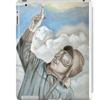 Aviator, pilot oil painting iPad Case/Skin
