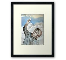 Aviator, pilot oil painting Framed Print