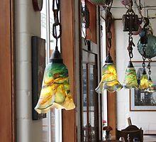 Hand Blown Lamps In Newport, Ore. Cafe by trueblvr