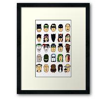 Batman Heroes & Villains Framed Print