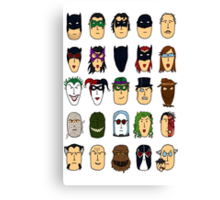 Batman Heroes & Villains Canvas Print