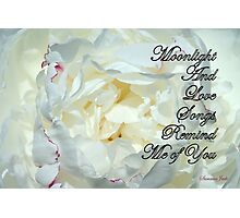 Romantic Love ~ As Time Goes By Photographic Print