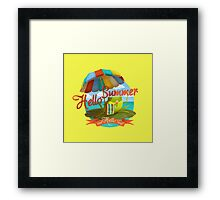 Hello summer and hello sea! Framed Print