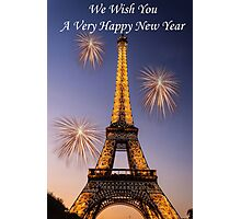 Wishing You A Very Happy New Year Photographic Print