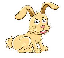 Funny yellow cartoon rabbit by berlinrob