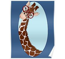 Giraffe Here's Looking At You Poster