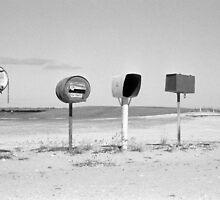 roadside letter boxes (Robe-Kingston Road) by Janine Paris