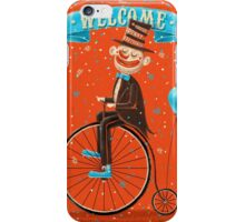 Penny-farthings circus iPhone Case/Skin