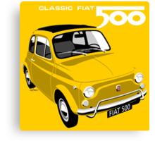 Classic Fiat 500L yellow Canvas Print
