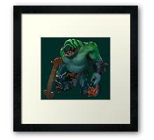 Dota 2 - Tidehunter [Vector] Framed Print