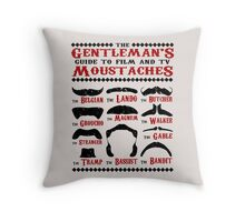 The Gentleman's Guide To Film & TV Moustaches Throw Pillow