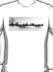 Spitfires in the snow black and white version T-Shirt