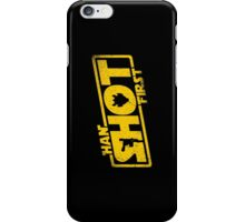 Han Shot First iPhone Case/Skin