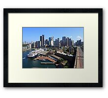 Cruiser Ship in Sydney Framed Print
