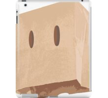 Brown Paper Bag Mask iPad Case/Skin