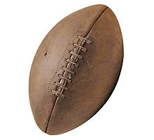 Brown Pigskin Football Photographic Print