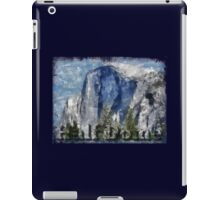 Rock Climbing Yosemite Half Dome Abstract iPad Case/Skin