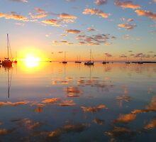 pink & blue sunrise by Aileen Foust