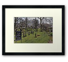 Saint Cuthberts Burial Ground Edinburgh - Scottland Framed Print