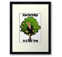 Alan Partridge in a pear tree. Framed Print