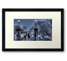Winter in Boston Framed Print