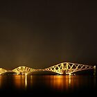 Forth Bridge (Firth of Forth Railway Bridge) and Stars by Maria Gaellman