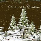 Seasons Greetings Card  by Vickie Emms