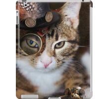 Steampunk Funny Cute Cat iPad Case/Skin