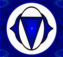 Deep Blue Awareness Abstract Chakra Art  by owfotografik