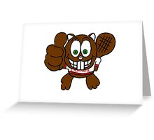 Thumbs up Canadian Beaver Greeting Card