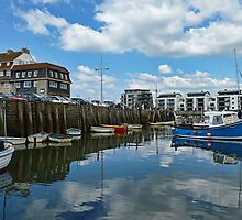 The Bright Colours Of West Bay by lynn carter
