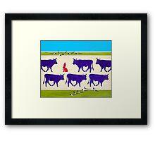 Cattle Guards Framed Print