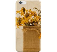 Gloriosa Daisy Flowers Withered iPhone Case/Skin