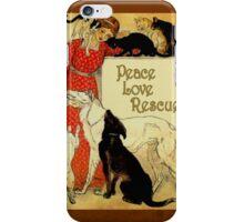 Peace Love Rescue 2 iPhone Case/Skin