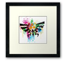 Hylian Paint Splatter Framed Print