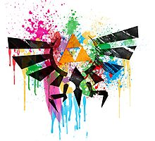 Hylian Paint Splatter Photographic Print