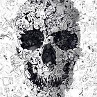 Doodle Skull by Ali Gulec